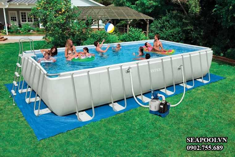 Bể bơi bằng bạt nhựa vinly di động