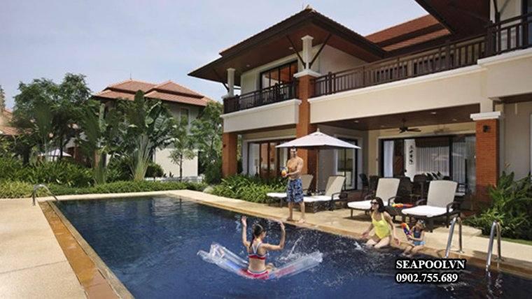 Bể Bơi Biệt Thự Gia đình Ngoài Trời đẹp
