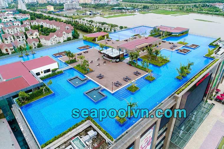 Bể bơi tại Vinhomer River Side Long Biên độc nhất vô nhị tại Hà Nội