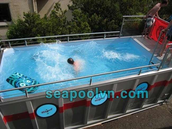 Bố trí máy gia nhiệt hay máy bơm ngược dòng tăng phần tiện ích hồ bơi