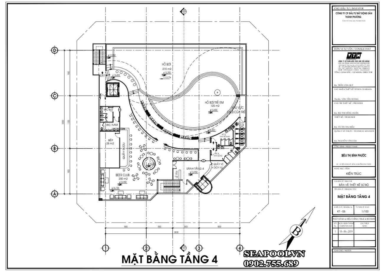 Chi phí bản vẽ thiết kế kết cấu hồ bơi