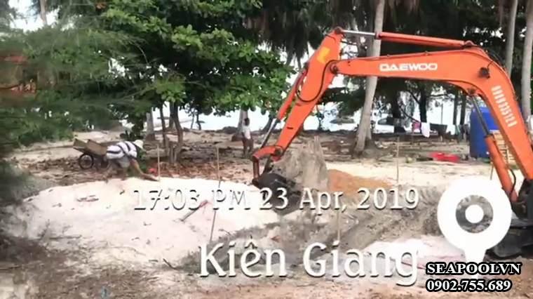 Đào Móng Xây Dựng Hồ Bơi Tại Phú Quốc Kiên Giang