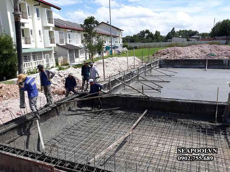 Đơn giá xây dựng phần thô cho bể bơi