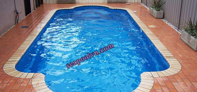 Hồ bơi bể bơi composite lưỡng cực kết hợp với bê tông cốt thép sau khi hoàn thành