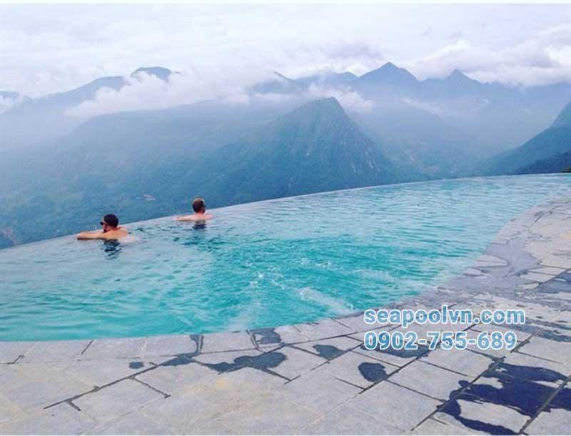 Hồ bơi chân mây tuyệt đẹp ở Sapa