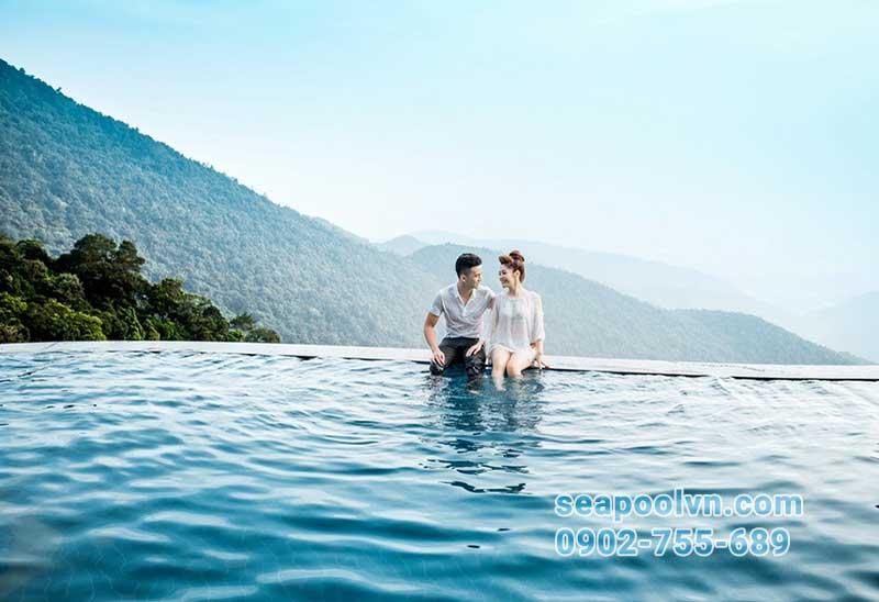 hồ bơi tràn vô cực thân thiện với môi trường sống xung quanh