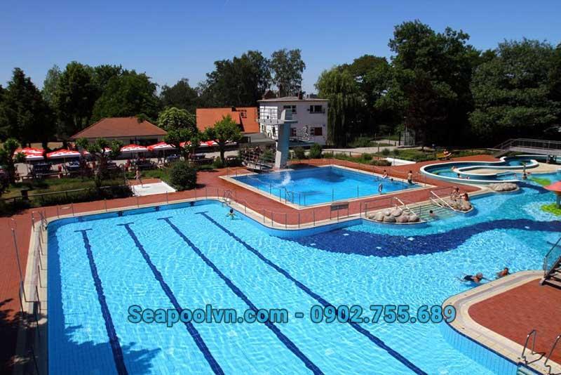 Kinh phí xây dựng bể bơi làm dịch vụ