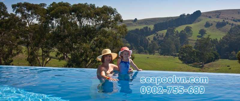 Nếu thiết kế hồ bơi vô cực đúng chuẩn không ảnh hưởng tới trẻ em