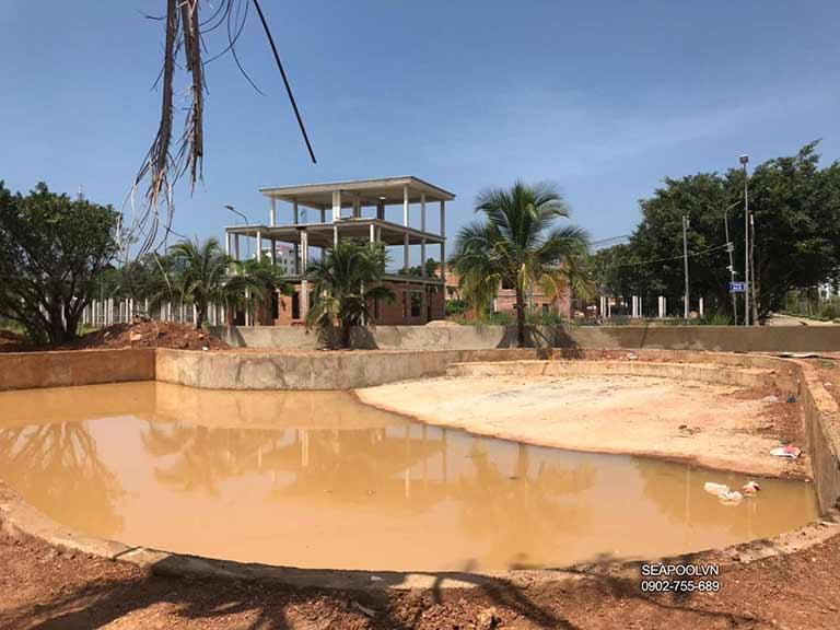 Thi công bể bơi cho khu nghỉ dưỡng Tại Bình phước