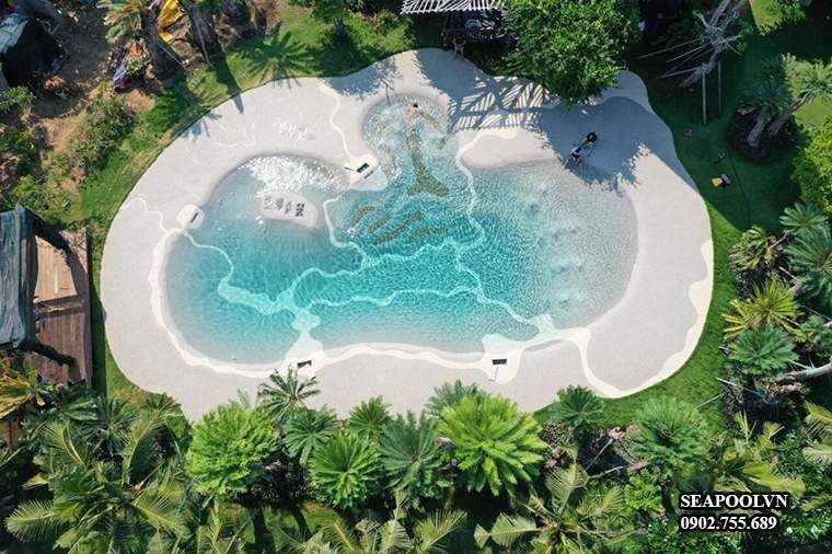 Thiết kế 3D phối cảnh cho bể bơi