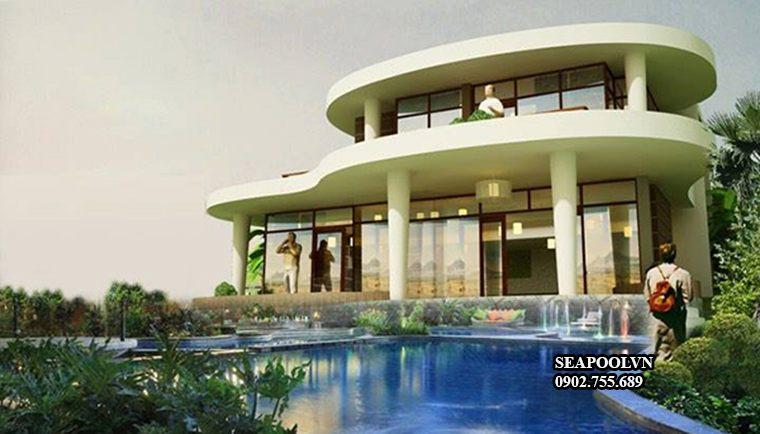 Thiết Kế Hồ Bơi Kinh Doanh Nhỏ Cho Vila Nghỉ Dưỡng