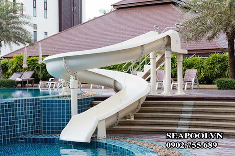 Máng Tuột Trượt Bể Bơi