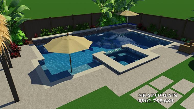 Phối Cảnh Hồ Bơi 3d