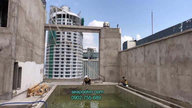 hồ bơi composite khách sạn nghỉ dưỡng Nha Trang