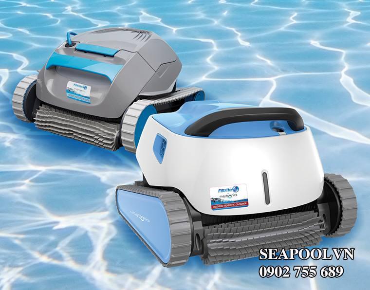 Robot Vệ Sinh Tự động Bơi Dưới đáy Hồ